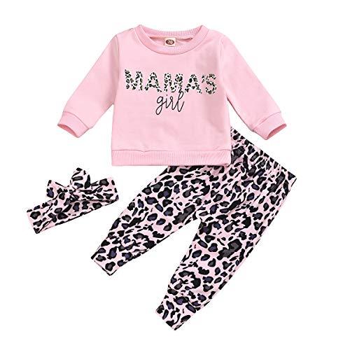 Conjuntos de Camiseta de Leopardo para niñas y niños Camisas de Manga...