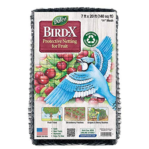 Dalen Gardeneer Bird X Protective Mesh Netting - Keep Birds and Pests Away from Your Garden – Non Toxic – – Made in The USA - 7' x 20'