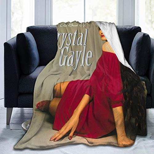 "Cangzhing Crystal Gayle Best of Crystal Gayle, The Conditioner Blanket, Suitable for Bed,Sofa,Chair, Camp Bed Living Room 80""x60"""