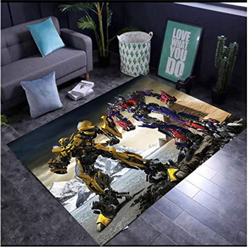 Teppich Rechteckige Kinder Cartoon Transformers Anime Teppich Wohnzimmer Schlafzimmer Studie Balkon Tatami Bett Spielmatte Teppich 120 * 200