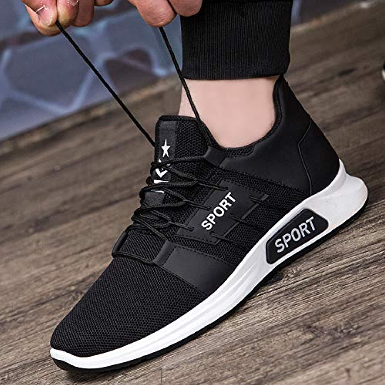 LOVDRAM Men's shoes Spring New Men'S shoes Fashion Wild Casual Men'S shoes Flying Woven Student Sports Running shoes