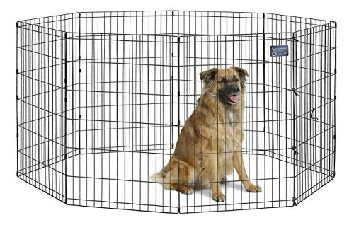 MidWest Foldable Metal Dog Exercise Pen / Pet Playpen, 24'W x 36'H, 1-Year Manufacturer's Warranty