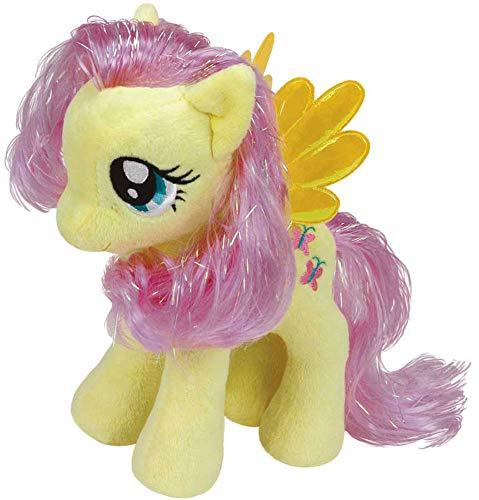 TY My little Pony MLP knuffel, knuffel, knuffel Fluttershy geel met vleugels 15cm, voor verzamelen, knuffelen en spelen, voor kinderen, meisjes en jongens