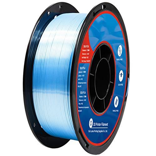 YANGDONG 1kg Silk Gloss PLA, 1,75mm 3D-Drucker-Verbrauchsmaterial, Hochwertiger Glanz Und Zähigkeit, Geeignet Für Drucker FDM, 3D-Druckstifte (Color : Sky Blue)