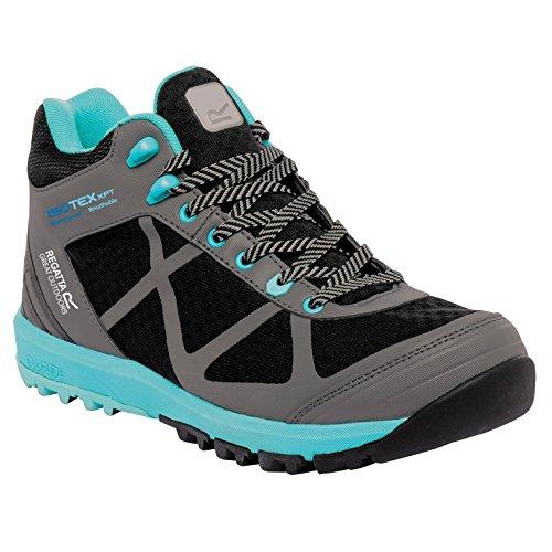 Regatta Ladies Hyper-Trail Mid Breathable Walking Boots Black RWF418