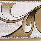 Dundee Deco BD3221 - Rotolo di carta da parati astratta, 10 m x 10 cm, autoadesivo, colore: Marrone