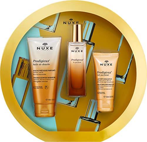 Nuxe parfum prodigieuse 30ml + aceite de ducha 100ml + leche corporal 30ml