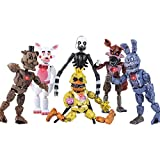 Featuring Five Nights at Freddy's Action Figures! | New 2021 Set of 6 PCS | FNAF Action Figure Toy Set | Toys Dolls | Ideal Gift for Your Lovely Ones | Cake Toppers | About 6 inches