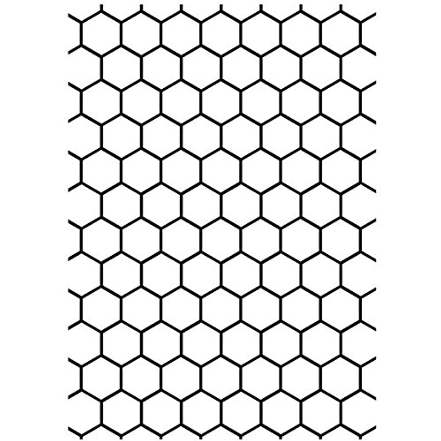 Darice Embossing Folder, 5 by 7-Inch, Honeycomb