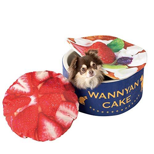 メイダイ(MEIDAI) 犬用品 ペットグッズ ベッド ベット クッション 45cm 猫 ハウス おしゃれペットベッド あごのせ ふわふわクッション インスタ映えクッション 犬 猫(うまうま!うちの子のベット (いちごケーキ))