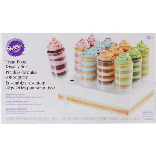 Wilton - Envase para Mini Tartas (12 Unidades, con Soporte), diseño Transparente