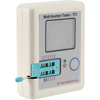 MagiDeal Lcr-tc1 Affichage Color/é Multifonctionnel Tft R/étro-/éclairage Transistor Testeur