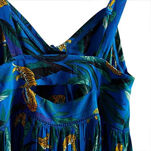 Superdry Daisy Midi Dress Vestido, Azul (Blue AOP I6m), XXS (Talla del Fabricante:6) para Mujer