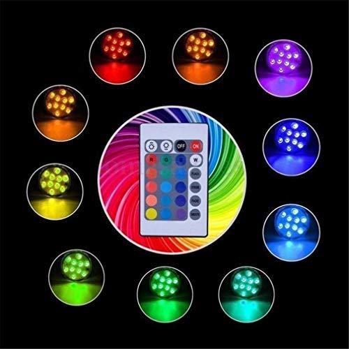 LHY LIGHT Unterwasserleuchten 10LED RGB Schwimmbecken-Tauchlampe Whirlpool SPA LED mit IR-Fernbedienung,1PCS