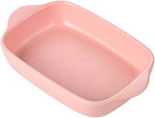 Ceramic Bakeware Set Home Kitchen Dining Bowl And Plate Baking Pans Oven/Microwave/Dishwasher Pink