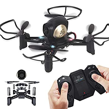 REMOKING R605 RC DIY Drone Toys Mini Racing Quadcopter Headless Mode 2.4GHz 360°flip 4 Channels Altitude Hold Indoor and Outdoor Game Educational Building Toy Science Kit for Kids and Adults