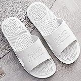 WUHUI Zapatillas de Baño para Niñas Niños Ligero Zapatos, Zapatos de Playa y Piscina para Niños Chanclas, Zapatillas de Masaje de Fondo Suave para baño para Mujer, Gray_40-41