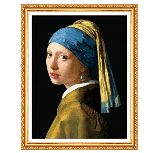 Diamant borduurwerk Vermeer meisje met parel ketting DIY diamant schilderij strass decoratie
