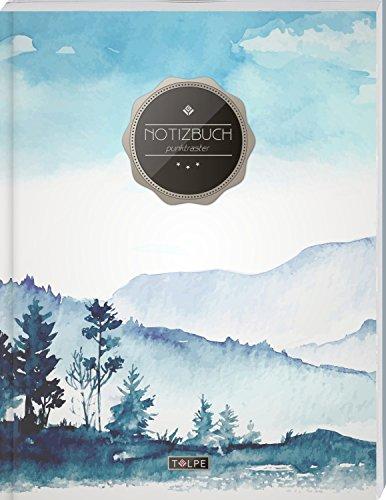 """TULPE Punktraster Notizbuch A4 """"C055 Oilpainting"""" (140+ Seiten, Vintage Softcover, Punktkariertes Papier - Bullet Journal, Dickes Notizheft, ... Gepunktete Seiten, Dot Grid Notebook)"""