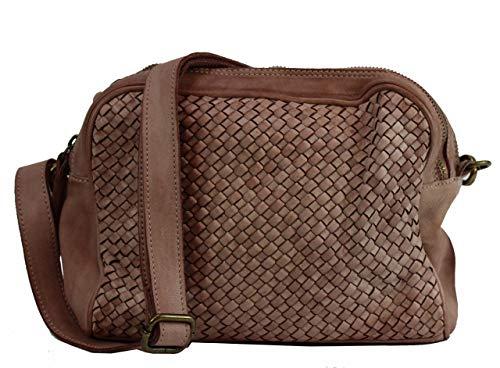 BZNA Bag Lucy Rose powder Italy Designer Clutch Braided Borsa a tracolla in pelle da donna borsa a tracolla borsa in pelle Shopper