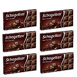 Schogetten German Dark Chocolate, 100g/3.5oz (Pack of 6)