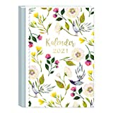 A6 Taschenkalender Kalender 2021 | Wochenplaner 2 Seiten pro Woche | Organizer 2021 klein | Terminkalender, Terminplaner 2021 mit vielen Extras