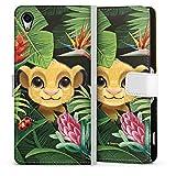Tasche kompatibel mit Sony Xperia Z2 Leder Flip Case Ledertasche König der Löwen Disney Simba