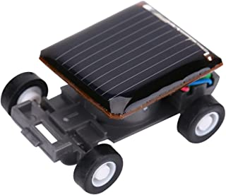 Dilwe Mini Solar Power Car, Smallest Solar Power Toy Car Racer for Kids Educational Playing Gift