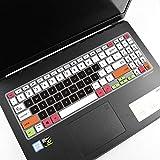 Superdünne Tastaturabdeckung für ASUS ZenBook 15 UX534FTC UX534FTC-AS77, VivoBook S15 S532 S532FA Laptop, ZenBook 15 UX534 Tastaturschutz – Weiß / Schwarz