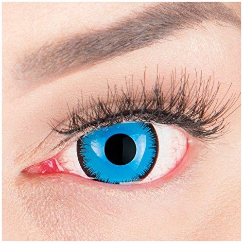 Farbige Mini Sclera Halloween Kontaktlinsen 'Alper' - 17mm MeralenS Horror Lenses inkl. Behälter - 1Paar (2 Stück)