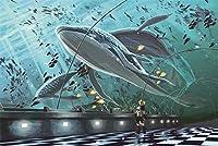 1000個の木製 教育的 のパズルの装飾のおもちゃ水族館(6歳以上が適しています)(50*75cm)