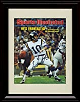 Framed Fran Tarkenton Sports Illustrated Autograph Replica Print - 11/10/1975