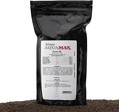 Aquamax Grower 400 Starter Feed Fish Food, Extruded 3/32'(2.4mm) Pellet, 20 Ounces