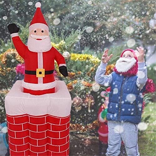AUZZO HOME 5,3 Fuß Weihnachten Aufblasbarer Weihnachtsmann im Schornstein Auf und Ab für Outdoor-Weihnachtsdekorationen in die Luft jagen