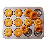 LXCS Metallo Muffa di Cottura -12 Coppa Mini Rotonda Uovo Formaggio Cheese Cake Dish - Fai da Te Cioccolato Teglia Modulo Mold - Antiaderente Torta Quiche Teglia