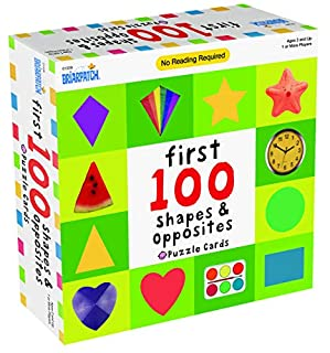 First 100 Shapes & Opposites Puzzle Cards Puzzle (B086KT5JCG) | Amazon price tracker / tracking, Amazon price history charts, Amazon price watches, Amazon price drop alerts
