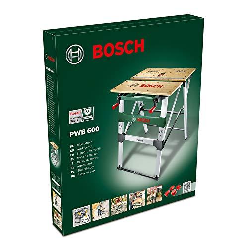 Bosch Arbeitstisch (mit 4x Spannbacken, Karton, max. Tragfähigkeit: 200 kg) PWB 600 - 2