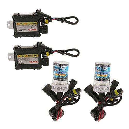 9006 55w 12v Lampe Cachèrent Ampoules De Conversion Phares Au Xénon Lumière Kit - 9006 6000K