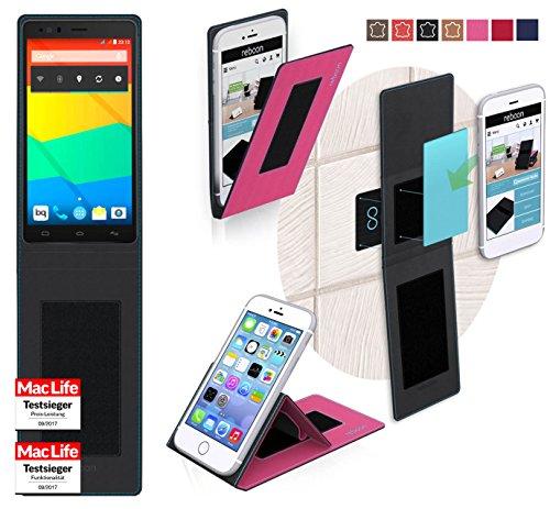 reboon Hülle für BQ Aquaris E6 Tasche Cover Case Bumper | Pink | Testsieger