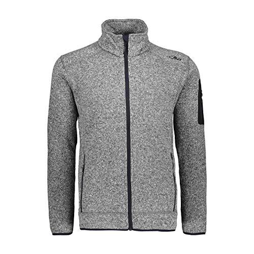 CMP – F.LLI Campagnolo Herren Knit Tech Polyester-Strickfleecejacke Fleecejacke, Nero Mel-Antracite, 50