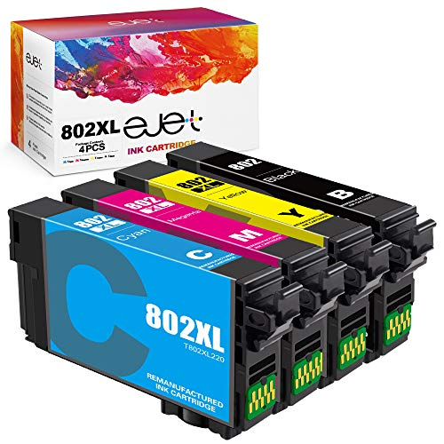 ejet Remanufactured Ink Cartridge Replacement for Epson 802XL 802 T802XL