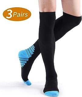 Compression Socks for Women and Men (3 Pairs) 20-30 mmHg Compresssion Stockings Knee High Compression Socks for Women,Fit Nursing & Athletic/Varicose Veins/Shin Splints & Edema/Blood Circulation S/M