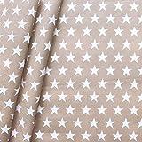 STOFFKONTOR Baumwollstoff beschichtet Sterne Groß Stoff