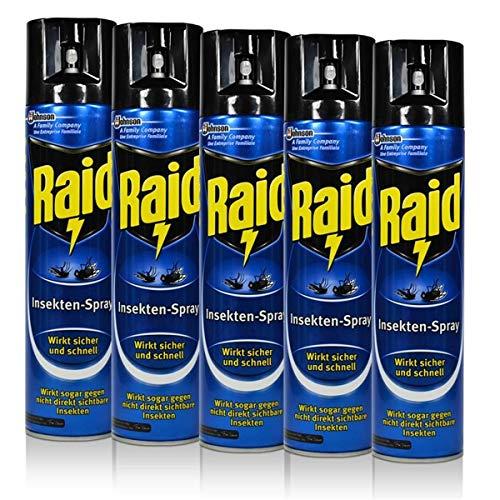 5x Raid Insekten-Spray 400 ml - Wirkt...