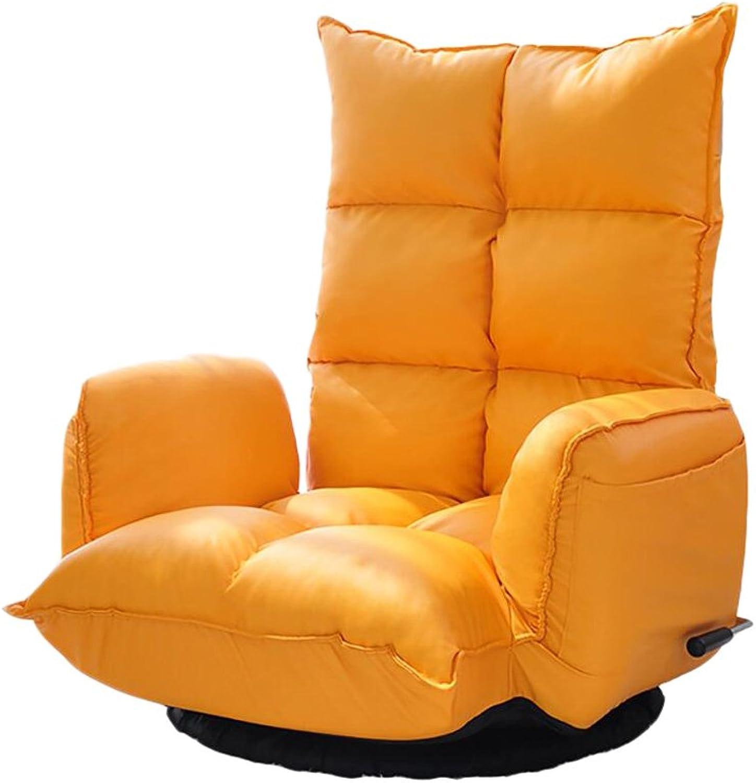 JUEJIDP Wohnzimmer der faulen Couch einzelnes nettes Mdchen, das beilufigen Schlafzimmerstuhl faltet Faule Couch (Farbe   Gelb)