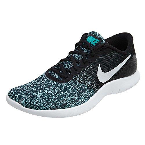 Nike Wmns Flex Contact, Zapatillas de Running para Mujer, Multicolor (Black/White/Light Aqua/Clear Jade 004), 38.5 EU