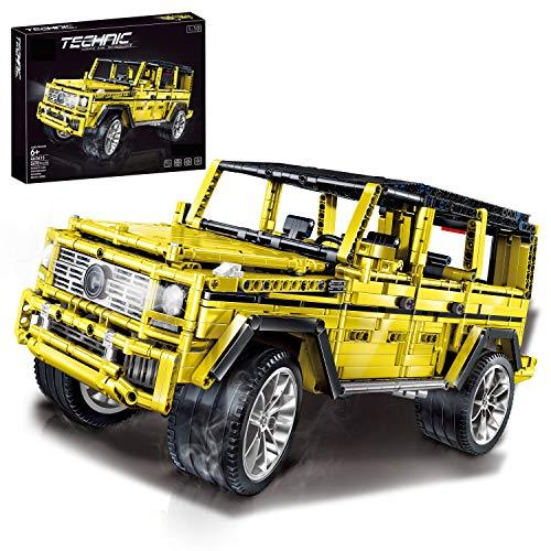 PEXL Technik Geländewagen Bausteine Bausatz für Mercedes-Benz G65 AMG, Technic Offroader Modell Bauset, 2470 Klemmbausteine Kompatibel mit Lego Technic
