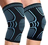 2 Pack Copper Knee Brace Knee Compression Sleeve Support for Men Women Knee Pain Working Out Running Sport Arthritis