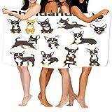 zexuandiy Super Absorbent Yoga Towel Non Slip Hot Yoga Mat 31.5&51.2 inch chihuahua