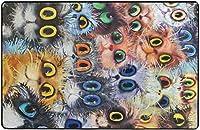 漫画猫カラフルな目猫スーパーソフト屋内モダンエリアラグふわふわラグダイニングルームホームベッドルームカーペットフロアマットベビーキッズ犬猫80x58インチ-80x58インチ